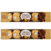 Deliver Rakhi and 10 Pieces Ferrero Rocher Chocolates to Mumbai. Rakhi Gifts to Mumbai