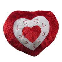 Christmas Gifts to Mumbai Same Day Delivery. Deliver Heart Shape Pillow in Mumbai