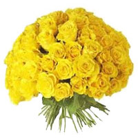 Flowers to Mumbai : 100 Yellow Roses Bouquet
