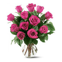 Valentine's Day Flowers to Mumbai : Pink Roses in Vase