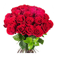 Send Flowers to Mumbai : Red Roses 24 Flowers to Mumbai