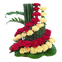 Flower Delivery in Mumbai - Mix Carnation Basket