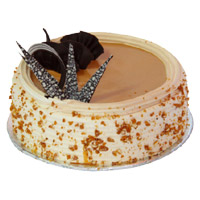 Karwa Chauth Cakes Delivery in Mumbai - Butter Scotch Cake From 5 Star