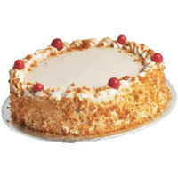 Online Valentine's Day Eggless Cake Delivery Mumbai - Butter Scotch Cake From 5 Star