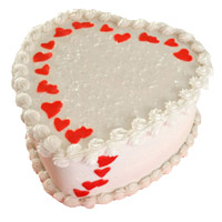 Send 2 Kg Heart Shape Butter Scotch Cake Delivery to Mumbai