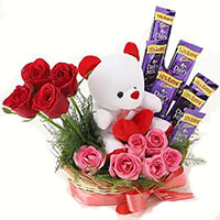 Deliver 12 Red Roses with 10 Ferrero Rocher Bouquet Online to Mumbai