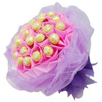 Send 40 Pcs Ferrero Rocher Bouquet Colaba Mumbai Online in Colaba Mumbai.Online Gifts Delivery in Colaba Mumbai