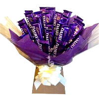 Online Gifts to Navi Mumbai contain Dairy Milk Chocolates Bouquet 24 Chocolates in Mumbai