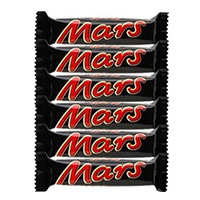 Send 6 Mars Chocolates to Mumbai. Rakhi Gift to Mumbai