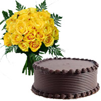 Yellow Roses and Chocolate Cakes to Mumbai