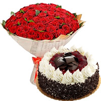 Gifts to Mumbai - Cake and Flowers to Mumbai
