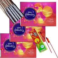 Send Diwali Gifts to Mumbai including 3 Celebrations Pack with 1 Box of Rocket and 1 Box of Sparkle.