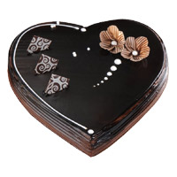 Valentine's Day Cakes Delivery in Mumbai - Chocolate Truffle Heart Cake