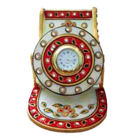 Corporate Gifts to Mumbai Same Day that include Multipurpose Mobile Stand and Clock in Marble