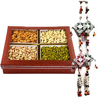 Door Hanging 1 with 1 Kg Mix Dry Fruits in Amravati. Deliver Diwali Gifts in Mumbai