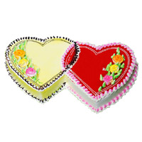 Online Delivery of 3 Kg Double Heart Butter Scotch Strawberry 2-in-1 Cake in Mumbai