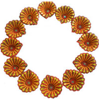 Deliver 12 Small Handcrafted Diya together with Diwali Gifts to Mumbai