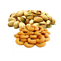 Deliver Christmas Dry Fruits in Thane incorporate with 500gm Roasted Cashew and 500gm Pistachio