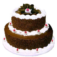 Online Valentine's Day Cakes to Mumbai - Tier Black Forest Cake
