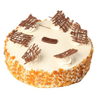 Eggless Cakes to Mumbai - Butter Scotch Cake From 5 Star