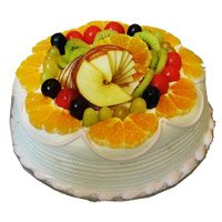 Send 1 Kg Eggless Fruit Cake to Barc Mumbai Online From 5 Star Bakery