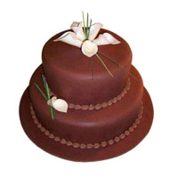 Eggless Valentine's Day Cakes to Mumbai - Tier Chocolate Cake