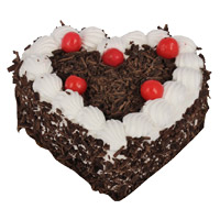 Fresh Valentine's Day Cakes to Mumbai - Black Forest Heart