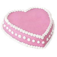 Best Valentine's Day Cakes to Mumbai - Strawberry Heart Cake