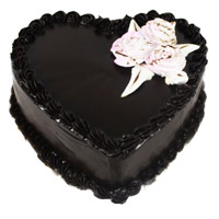 Deliver Eggless Cakes to Mumbai - Chocolate Truffle Heart Cake