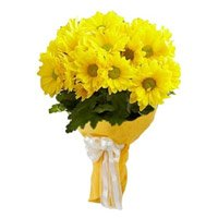 Best Flowers to Mumbai : Yellow Gerbera Bouquet