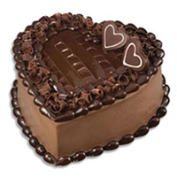 Chocolate Day Cake Delivery in Mumbai - Chocolate Truffle Heart Cake