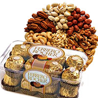 Gifts to Mumbai. Send 500 gm Mixed Dry Fruits with 16 pcs Ferrero Rocher Chocolates Mumbai