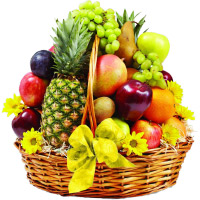 Send Best Gift for Friendship Day 5 Kg Fresh Fruits Basket in Mumbai to your Friends
