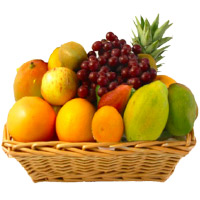 Bhaidooj Gifts in Mumbai to Send 3 Kg Fresh Fruits to Mumbai in Basket