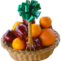 Place Order to Send Bhaidooj Gifts to Mumbai with Fresh Fruits to Mumbai plus 2 Kg Fresh Apple and Orange Basket