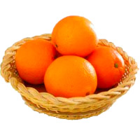 Bhaidooj Gifts Delivery to Mumbai incorporate with 12 Pcs Fresh Orange Basket