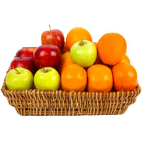 Place Order for Bhaidooj Gifts to Nagpur with 3 Kg Fresh Apple and Orange Basket