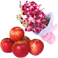 Place Order for Purple Orchid Bunch 5 Flowers Stem to Mumbai Online