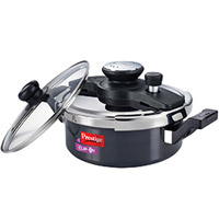 Shop for Gifts to Pune consisting Prestige Clip On Kadai Pressure Cooker (3 ltr) on Diwali