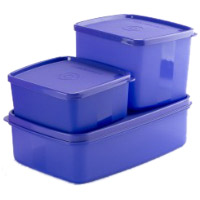 Delivers Diwali Gifts to Thane consisting Signoraware 3 Pcs. Mini Fridge Set-Violet
