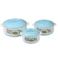 Choose Set of 3 Plastic Melamine Casserole as Diwali Gifts in Mumbai for your Friends