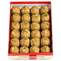 Send Online Good Gifts for Friends, 1 kg Atta Laddoo, Sweets to Mumbai