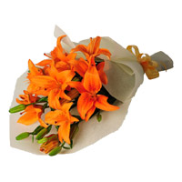 Flowers to Mumbai : Orange Lily