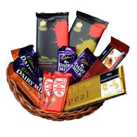 Gift Delivery in Raj Bhawan Mumbai.Basket of Assorted Chocolates