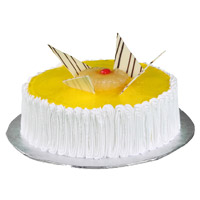 Online Cakes to Mumbai - Pineapple Cake From 5 Star