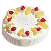 Send Friendship Day Cakes to Mumbai Same Day Delivery, Send 3 Kg Pineapple Cake From 5 Star Bakery in Mumbai