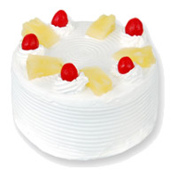 Eggless Valentine's Day Cake Delivery to Mumbai - Pineapple Cake