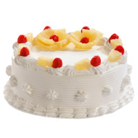 Place order to send 1 Kg Pineapple Cake in Mumbai From 5 Star Hotel