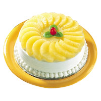 Online Delivery of 3 Kg Pineapple Cake to Mumbai From 5 Star Hotel