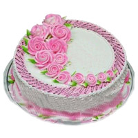 Send Eggless Cakes to Mumbai - Strawberry Cake